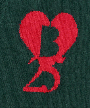ICB 【マガジン掲載】25thKnit ニットカーディガン(番号CL28) ダークグリーン系1
