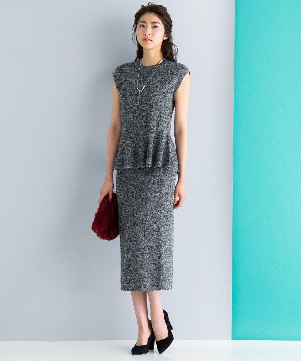 ICB 【セットアップ可・洗える】Wool Ester ベルト付き ニット ブラック系7