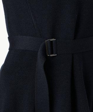 ICB 【セットアップ可・洗える】Wool Ester ベルト付き ニット ネイビー系