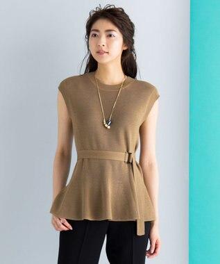 ICB 【セットアップ可・洗える】Wool Ester ベルト付き ニット キャメル系