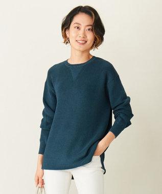 ICB L 【洗える】Shimmery ニット ダークグリーン系
