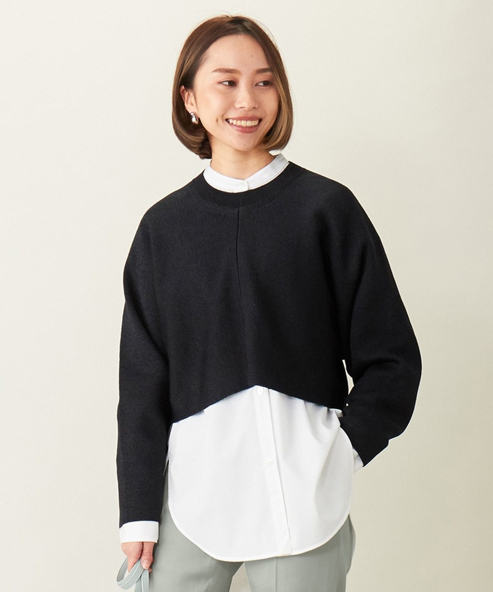 ICB 【洗える】 Shimmery ショートニット ブラック系