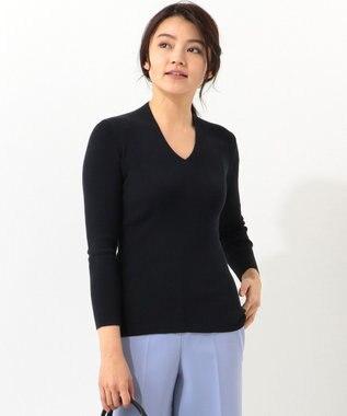 ICB 【2019春のWEB限定カラー】Tratto Vネックニット ネイビー系