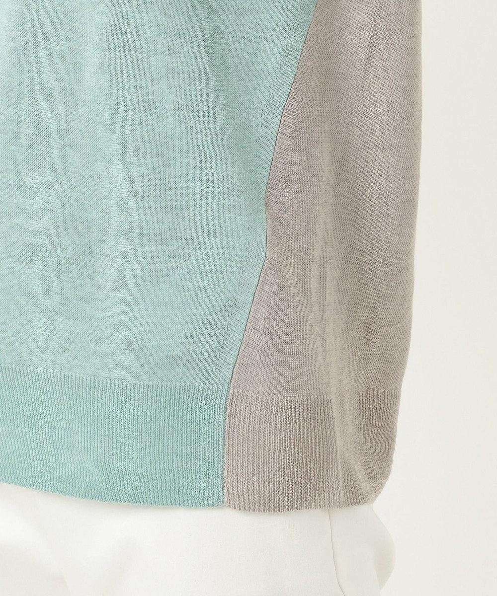 ICB 【洗える】Pure Linen Vネック ニット ライトグリーン系8