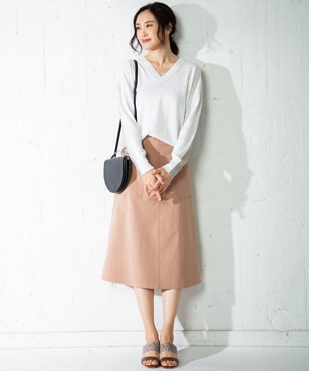 ICB 【洗える】Pure Linen Vネック ニット ホワイト系8
