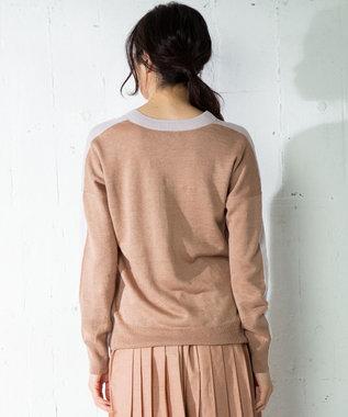 ICB 【洗える】Pure Linen Vネック ニット ローズ系8