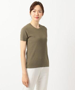 ICB L High Twist Cotton ニット カーキ系