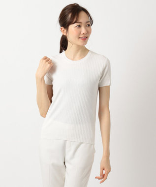 ICB L High Twist Cotton ニット ホワイト系