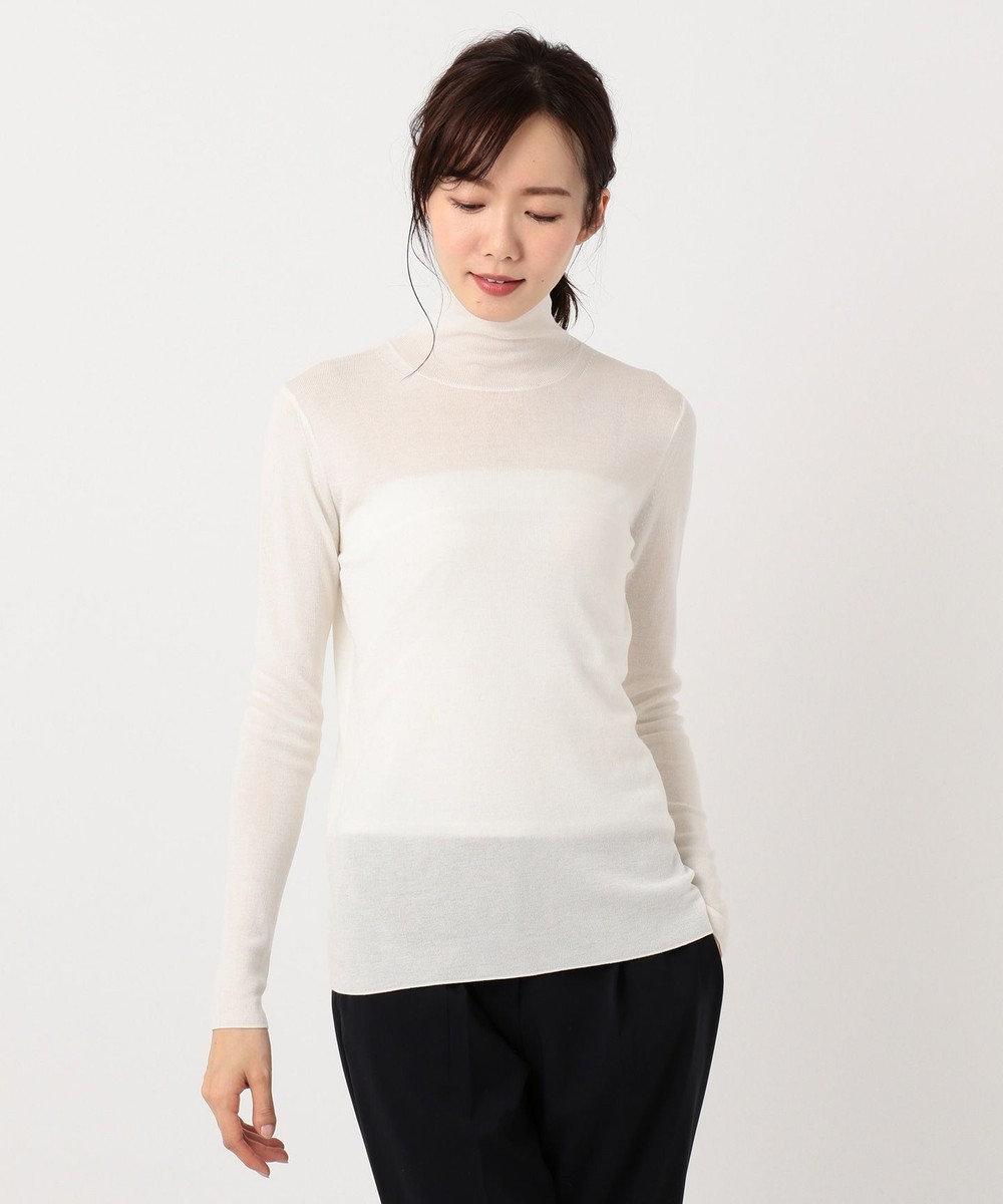 ICB 【洗える】Tencel Wool ハイネックニット ホワイト系