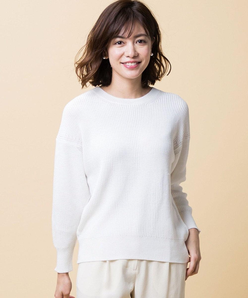 ICB L 【2019春のWEB限定カラー】Compact Air Cotton ニット ホワイト系