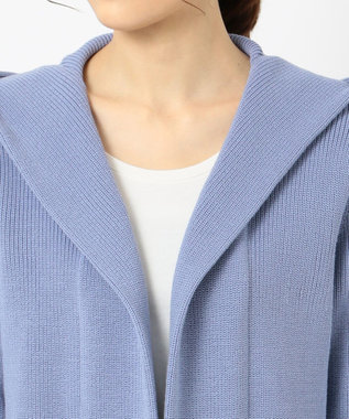 ICB L 【2019春のWEB限定カラー】Compact Air Cotton カーディガン サックスブルー系