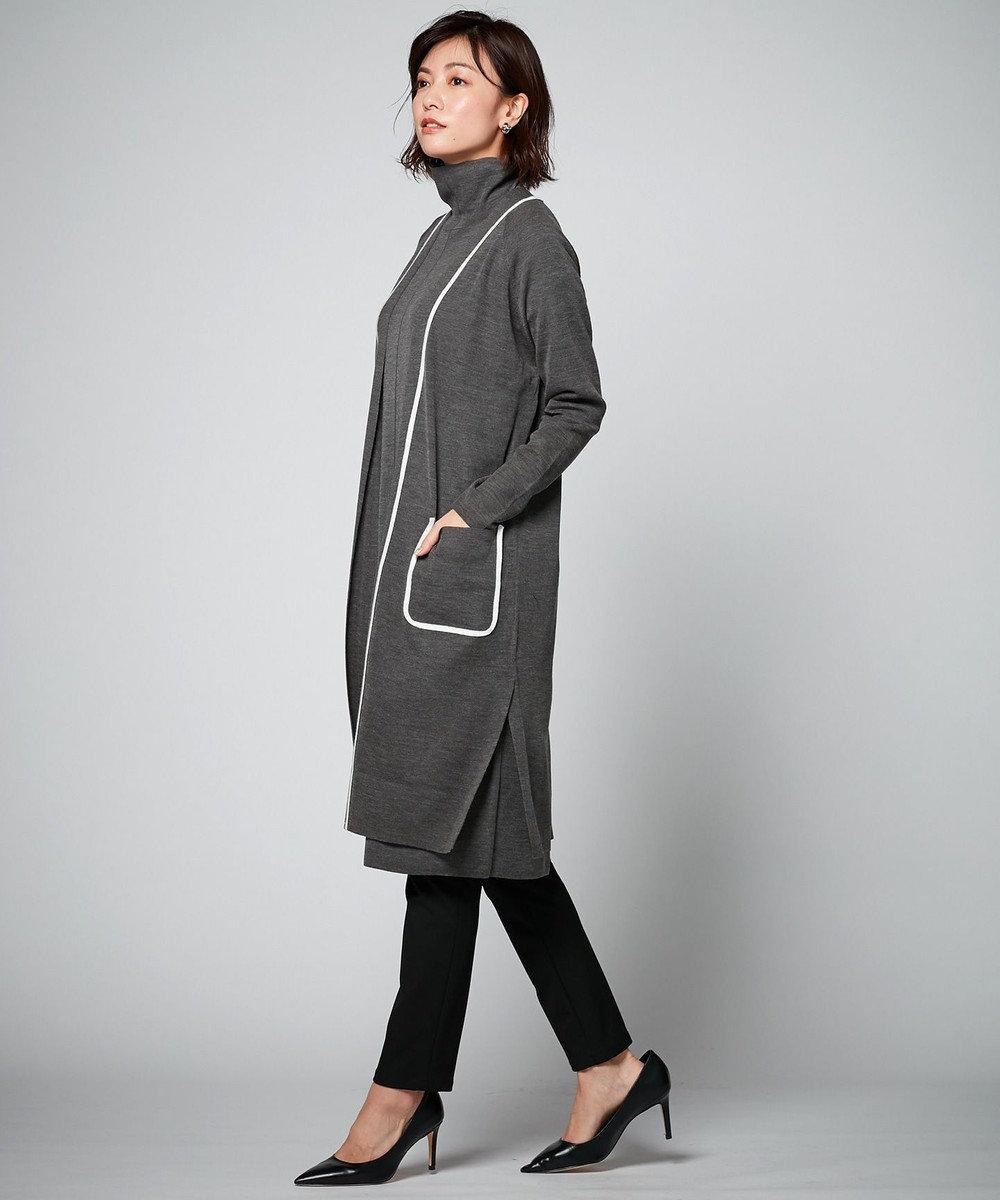 ICB Fine Wool ニットカーディガン グレー系
