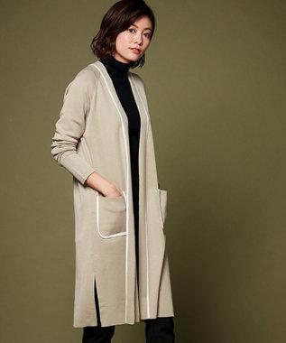 ICB Fine Wool ニットカーディガン ベージュ系