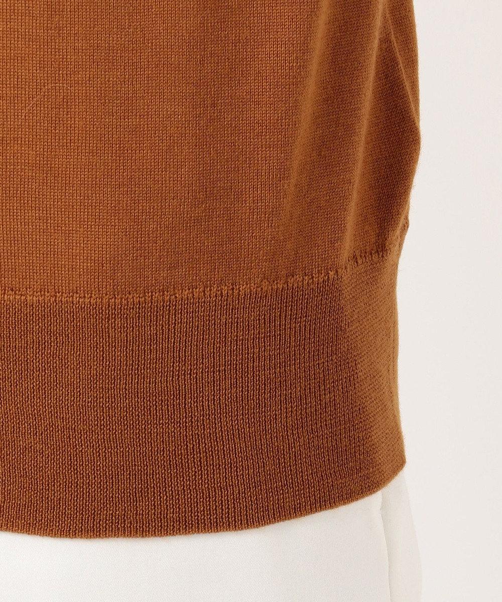 ICB L 【洗える】Compact Wool ノースリーブニット ブラウン系