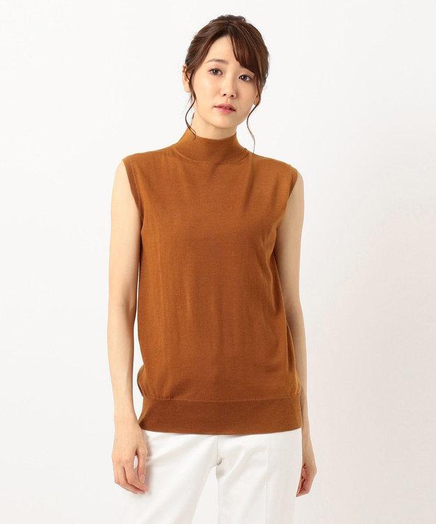 ICB L 【洗える】Compact Wool ノースリーブニット