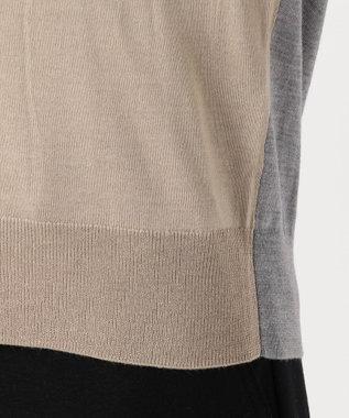 ICB L 【シルク&カシミヤ混】Wool Silk Cashmere Vネックニット ベージュ系7