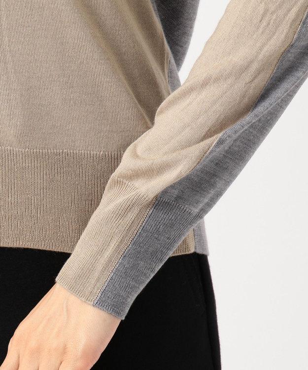 ICB L 【シルク&カシミヤ混】Wool Silk Cashmere Vネックニット