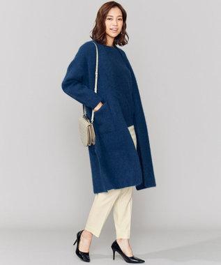 ICB L 【店頭売れ筋】Racoon Shaggy ニット ブルーネイビー系