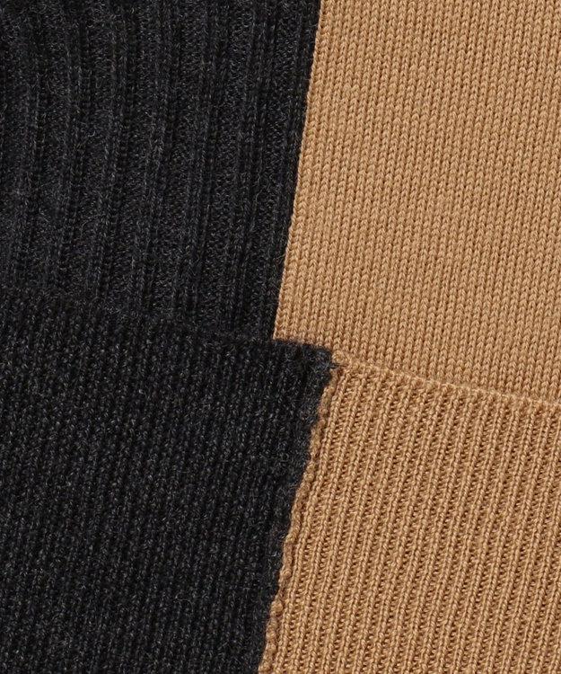 ICB L Bicolor Wool タートルネックニット