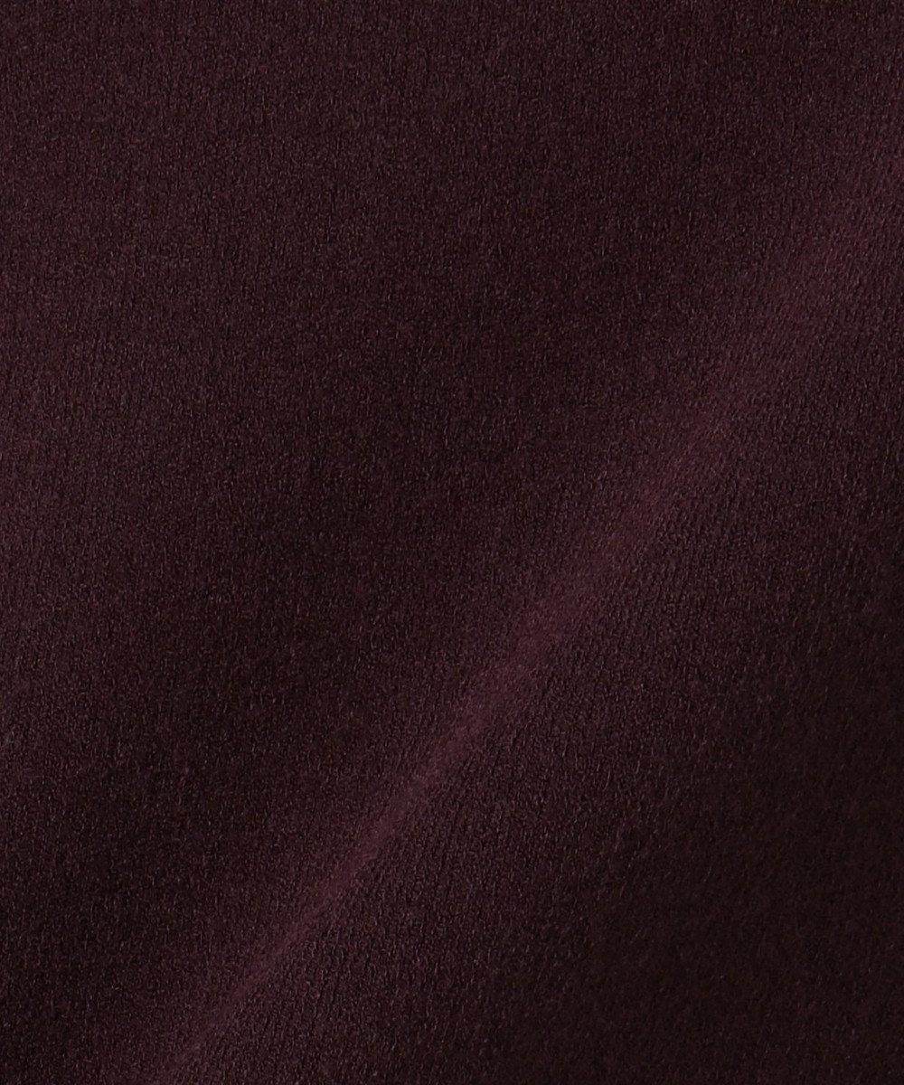 ICB 【ボウタイ取り外し可】Synthetic Spun Vネックニット ワイン系7