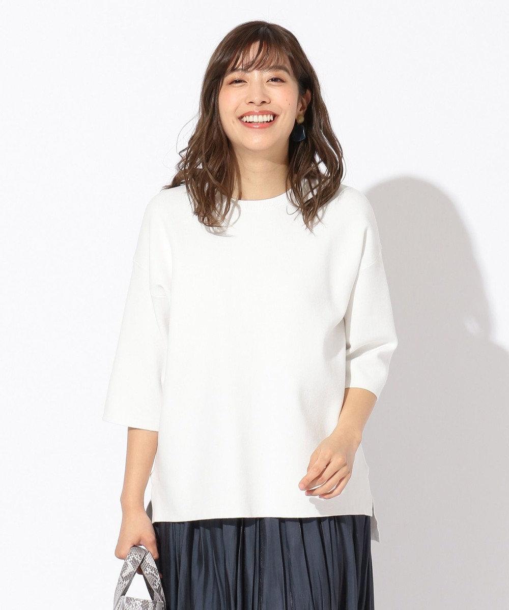 any FAM 【洗える】ニットトレーナー プルオーバー ホワイト系