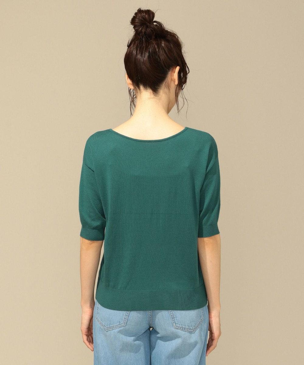 any FAM 【前後着用可】ニットTシャツ プルオーバー グリーン