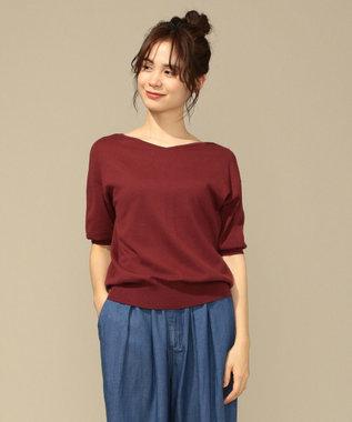 any FAM 【前後着用可】ニットTシャツ プルオーバー レンガ