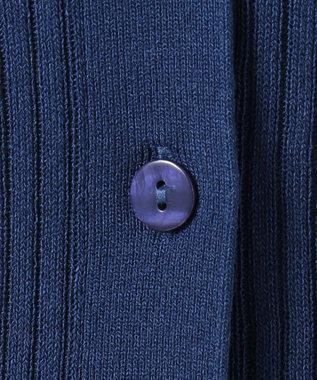 any FAM L 【UVケア】【抗菌防臭】マルチファンクションリブニット カーディガン ブルー系