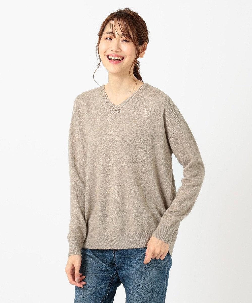 any FAM L 【洗える】カシミヤブレンド ニット ダークブラウン系