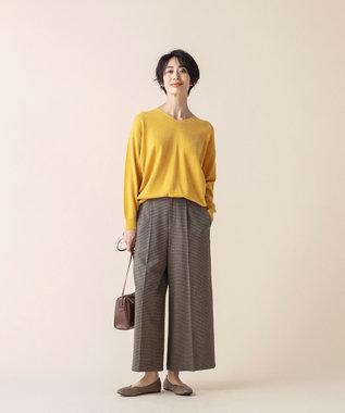 any FAM L 【洗える】カシミヤブレンド ニット イエロー系
