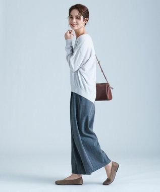 any FAM L 【洗える】カシミヤブレンド ニット ライトグレー系