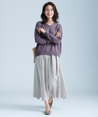 any FAM L 【洗える】カシミヤブレンド ニット ブラウン系