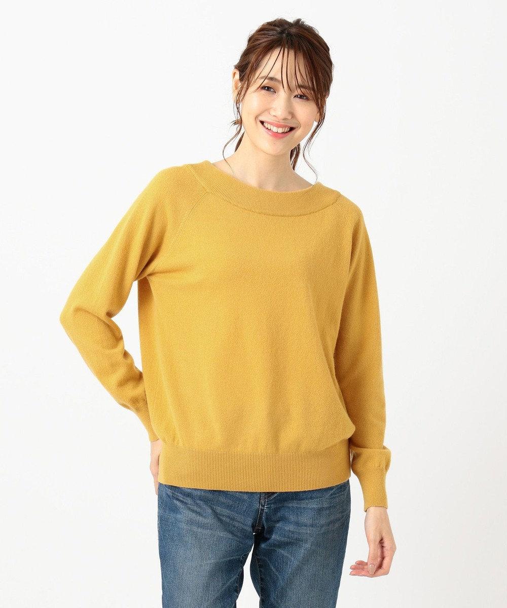 any FAM L 【洗える】カシミヤブレンド2WAY ニット イエロー系