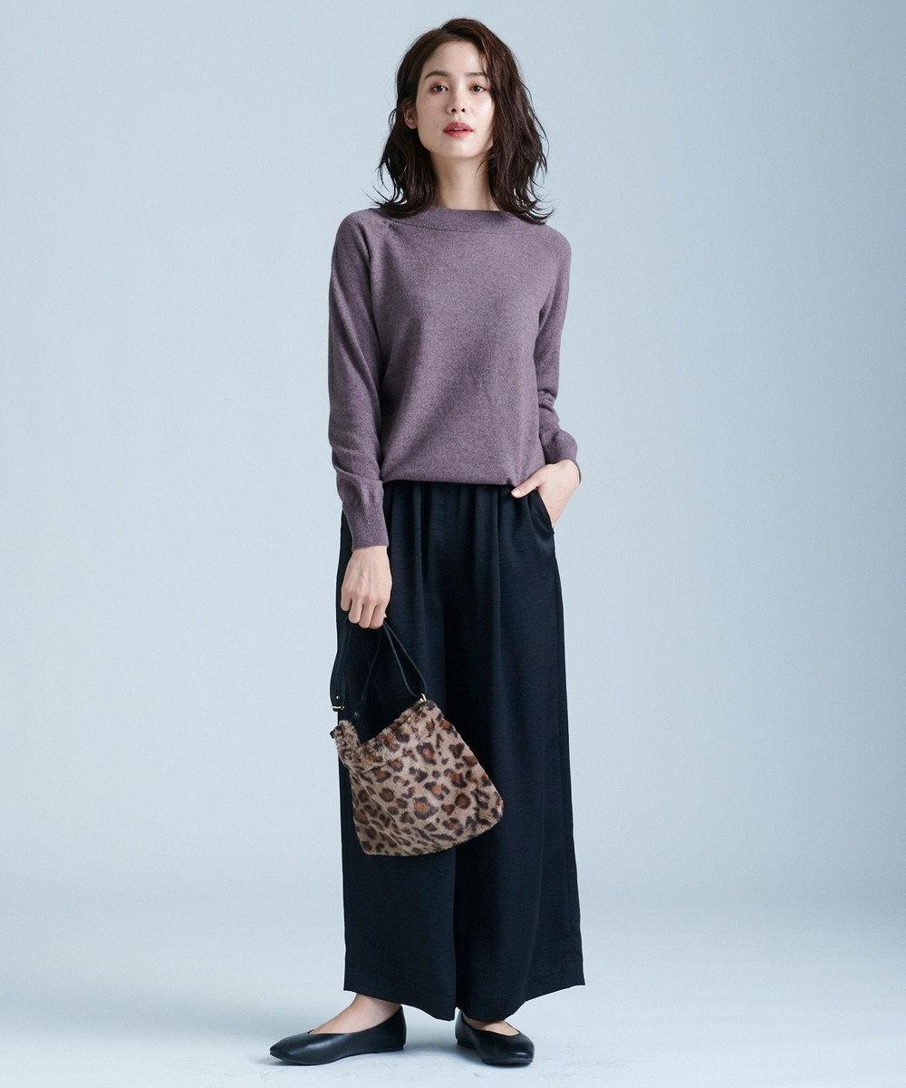 any FAM L 【洗える】カシミヤブレンド2WAY ニット ブラウン系