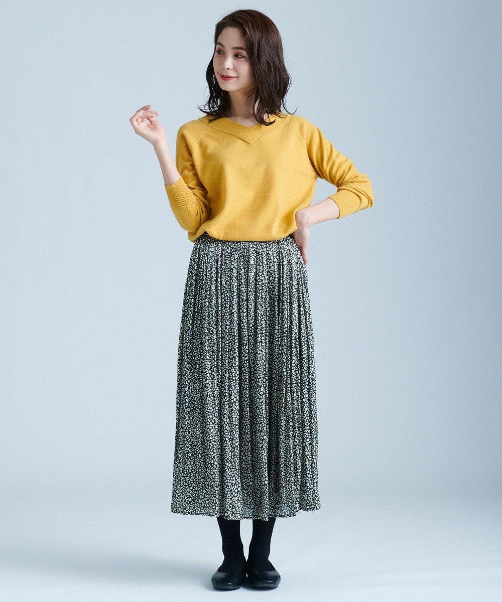 any FAM L 【洗える】カシミヤブレンド2WAY ニット サックスブルー系