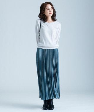 any FAM L 【洗える】カシミヤブレンド2WAY ニット ライトグレー系