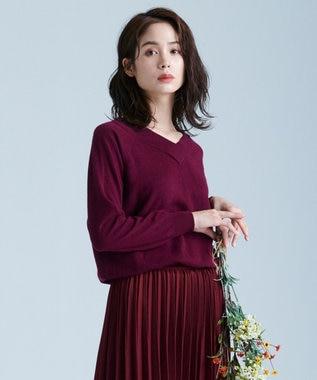 any FAM L 【洗える】カシミヤブレンド2WAY ニット ワイン系