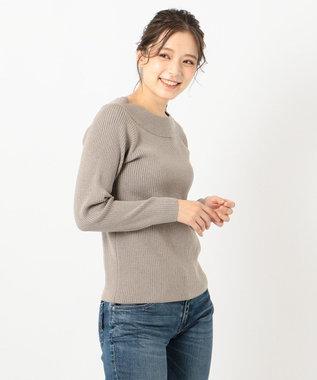 any FAM L 【吸湿・発熱】【定番人気】ウォームニット プルオーバー ブラウン系