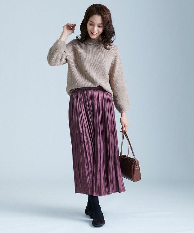 any FAM 【定番人気】フェザーコンビ ニット