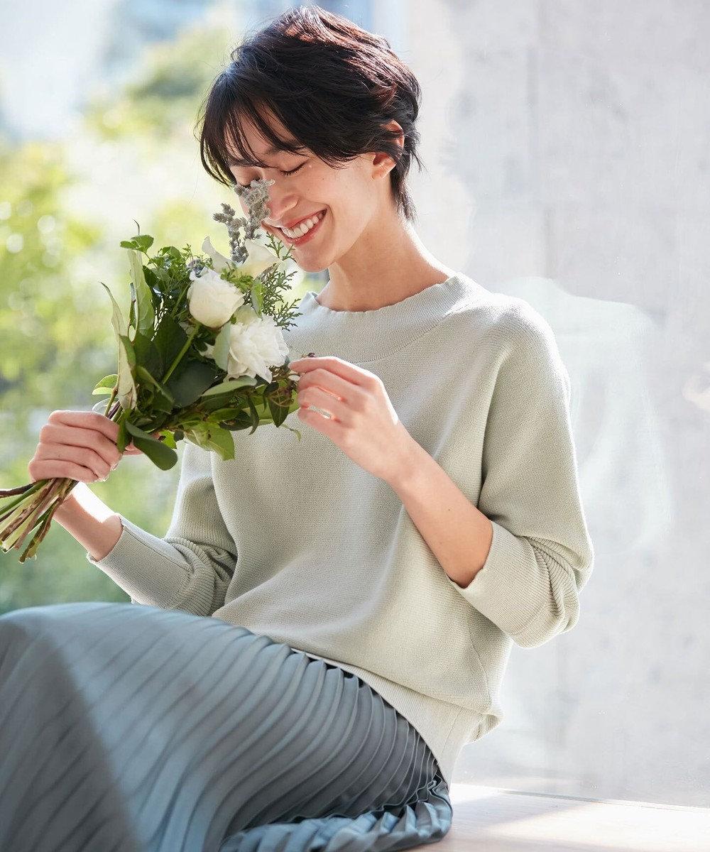 any FAM 【松本まりかさん着用】ベーシックドルマン ニット ライトグリーン系