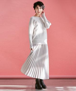 any FAM 【松本まりかさん着用】ベーシックドルマン ニット アイボリー系