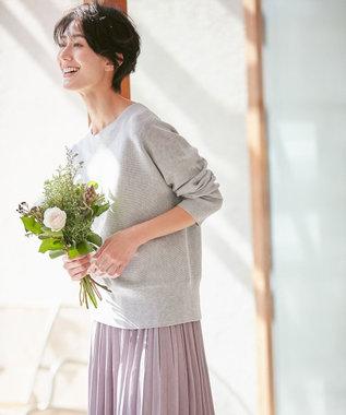 any FAM 【松本まりかさん着用】ベーシックドルマン ニット ライトグレー系