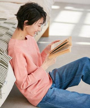 any FAM 【松本まりかさん着用】ベーシックドルマン ニット オレンジ系