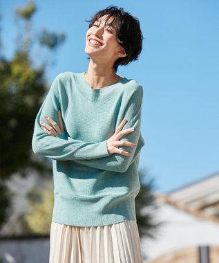 any FAM 【松本まりかさん着用】ベーシックドルマン ニット グリーン系