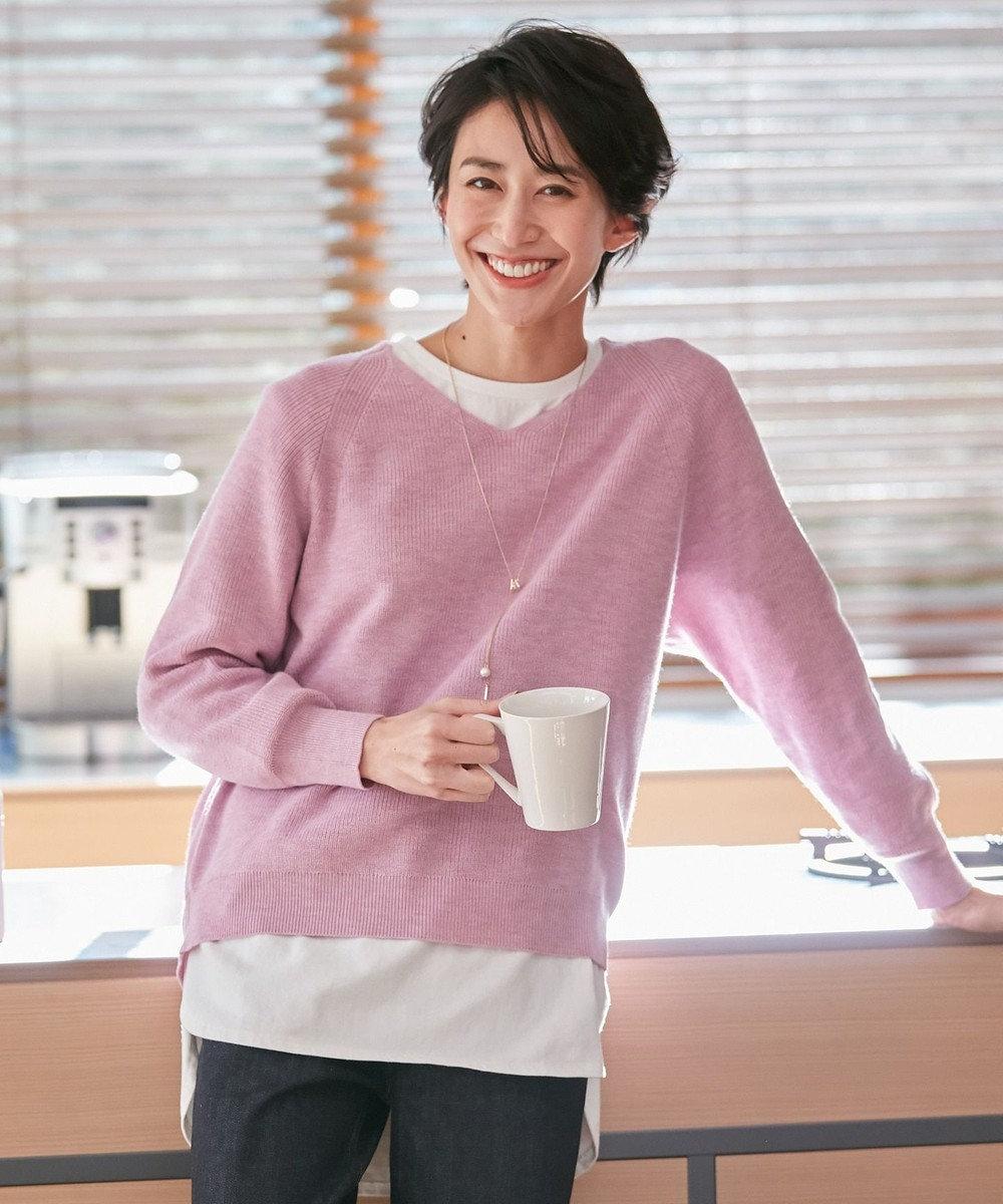 any FAM 【洗える】NEW SPRING ニット パープル系