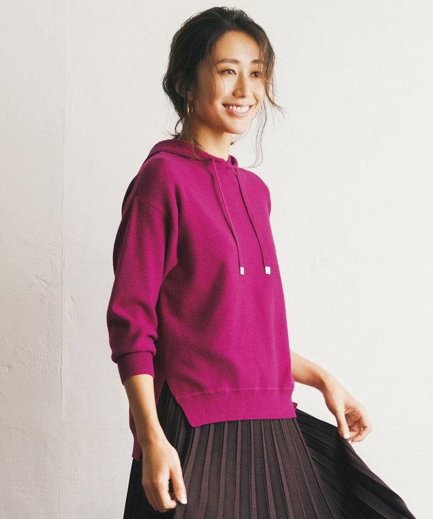 any FAM 【洗える】ニットフ-ディー パーカー
