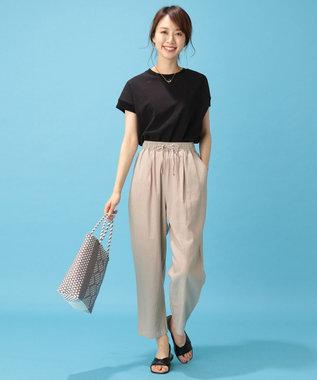 any FAM 【洗える】リブコンビ Tシャツ ブラック系