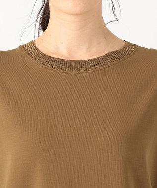 any FAM 【洗える】リブコンビ Tシャツ キャメル系