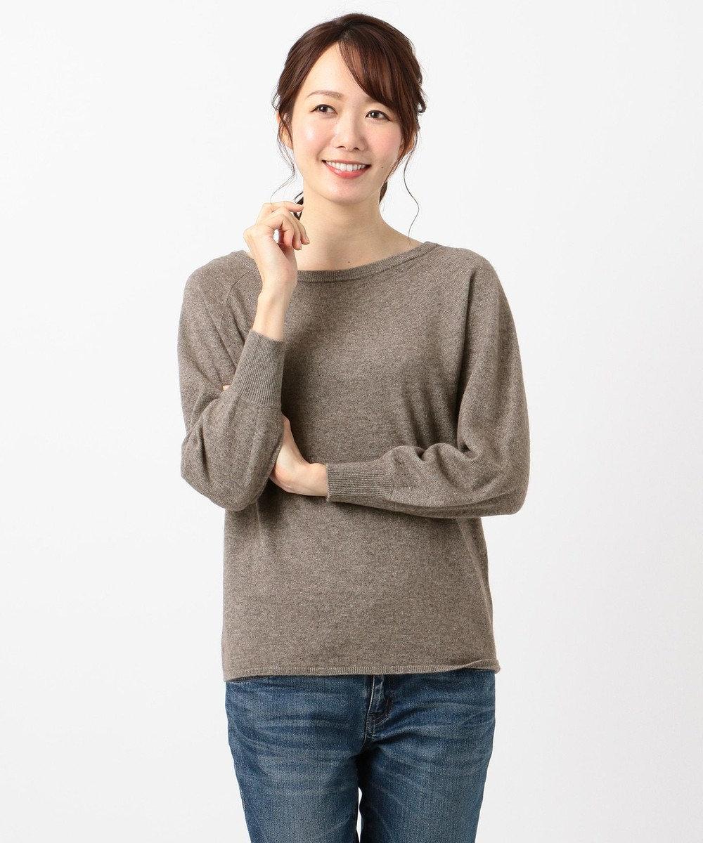 any FAM 【洗える】カシミヤブレンドニット プルオーバー ブラウン系