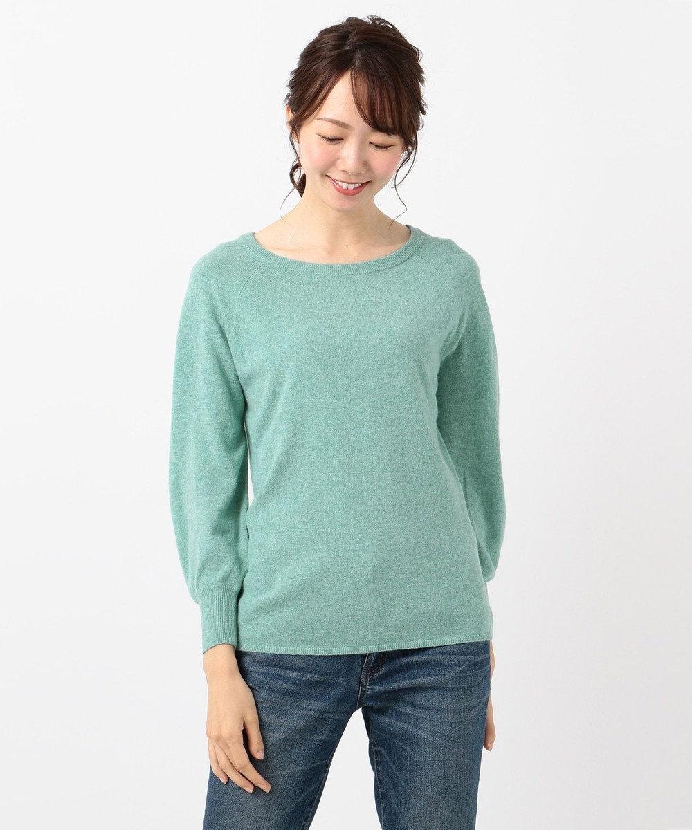 any FAM 【洗える】カシミヤブレンドニット プルオーバー サックスブルー系